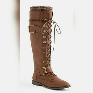 Just Fab Wide Calf Boots